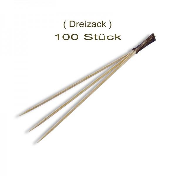 Bambusspiess mit 3 Zacken 9cm
