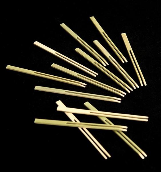 Bambus-Spiesse Stimmgabeln 10 cm